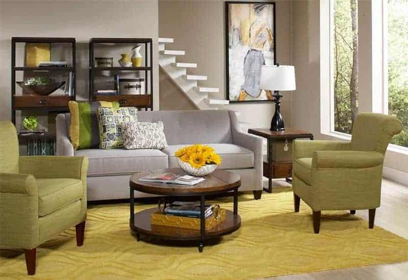 Cort Furniture Rental living room retro