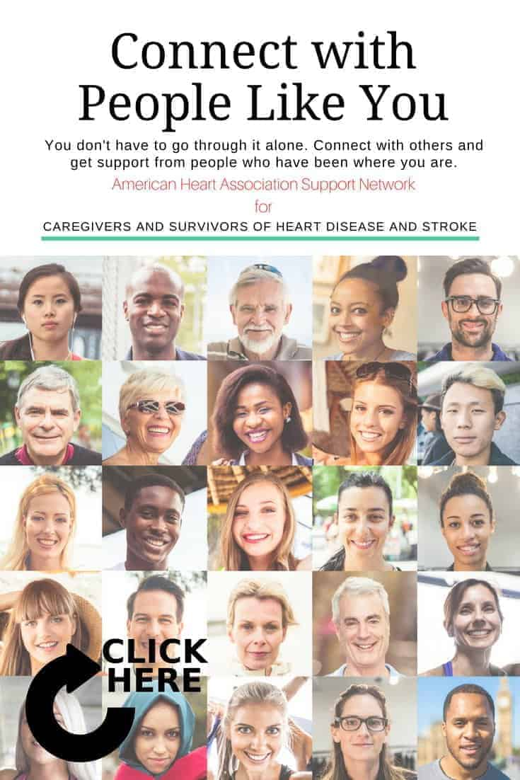 The American Heart Association Support Network is a free community of like-minded survivors and caregivers of heart disease and stroke. Join now!
