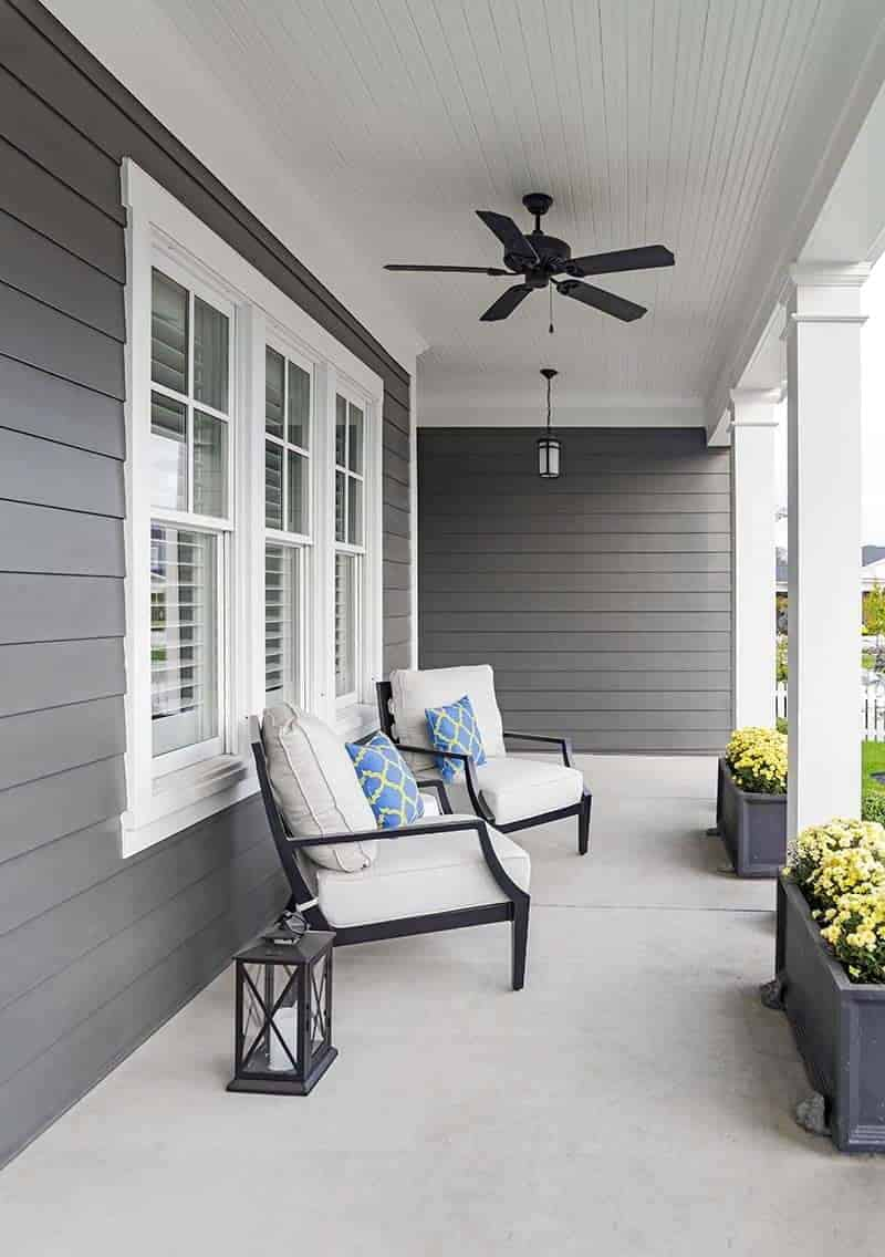 James Hardie Siding on a porch