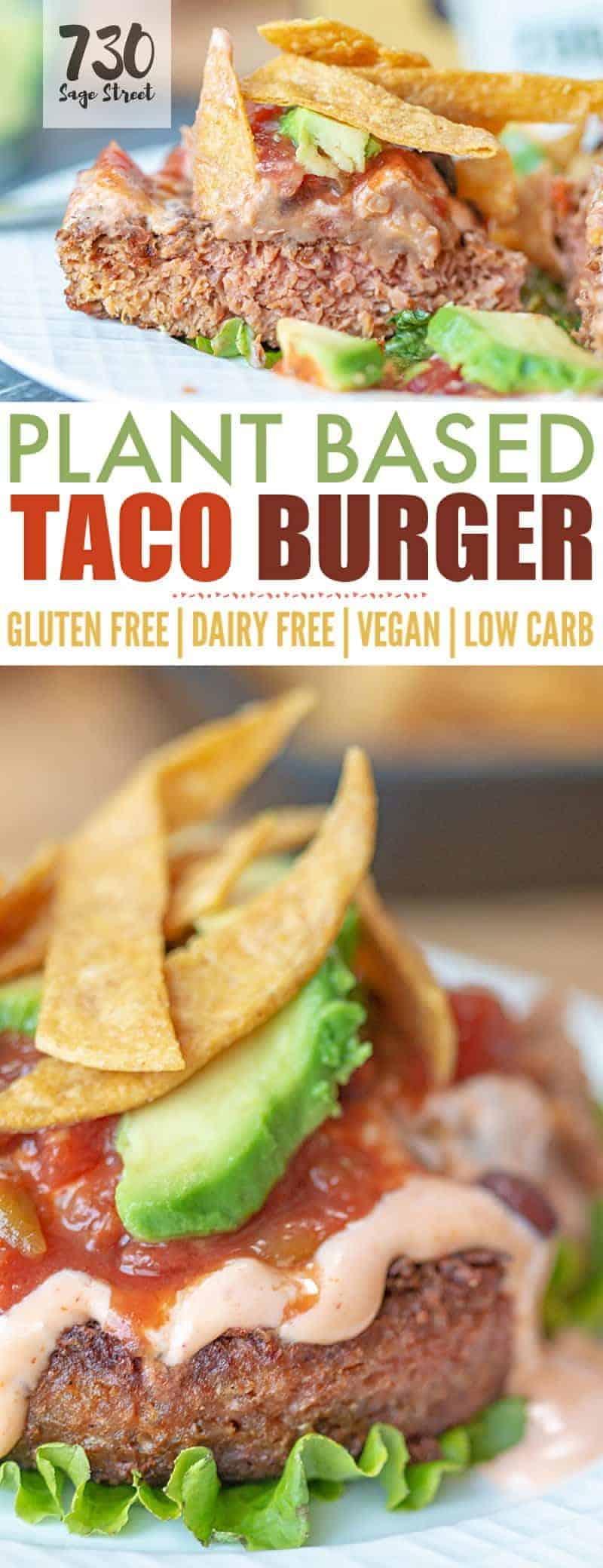 taco burger photo collage