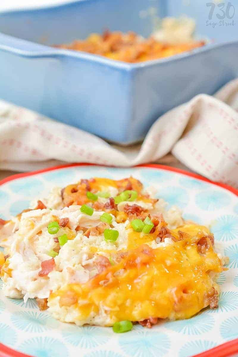 Loaded Cauliflower Casserole Low Carb Chicken And Cheese 730 Sage Street