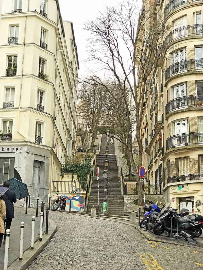 Montmartre stairs to Sacre Coeur