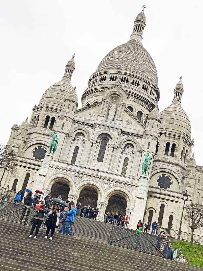 Sacre Coeur in Montmartre in Paris