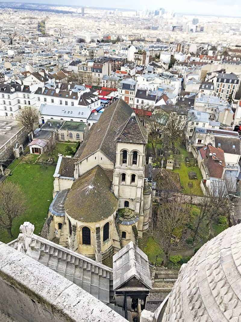 view from the dome at Sacre Coeur