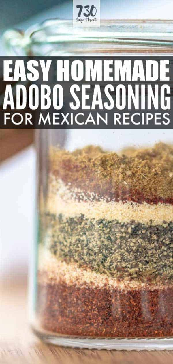 adobo seasoning in a glass jar