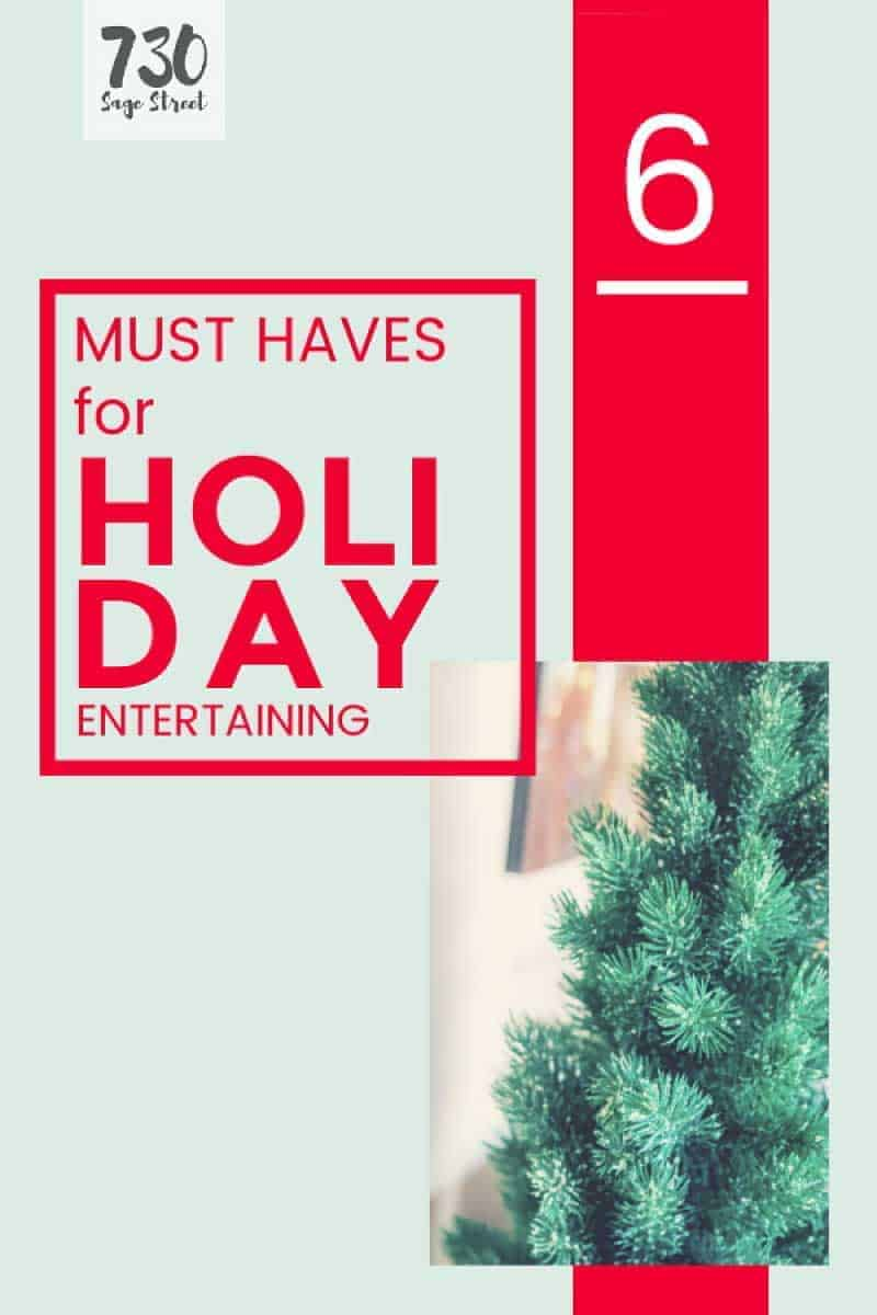 holiday entertaining graphic with text