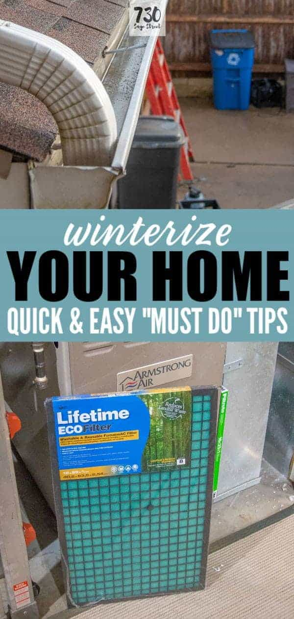winterize your home collage of photos