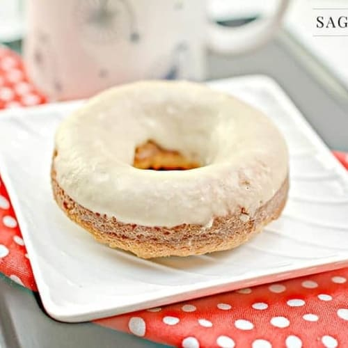 keto donut on a white plate
