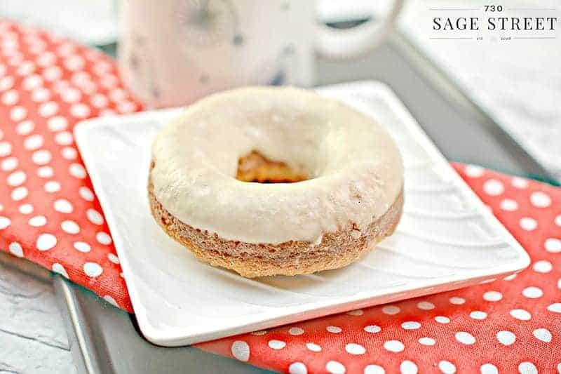 keto donut on a white plate