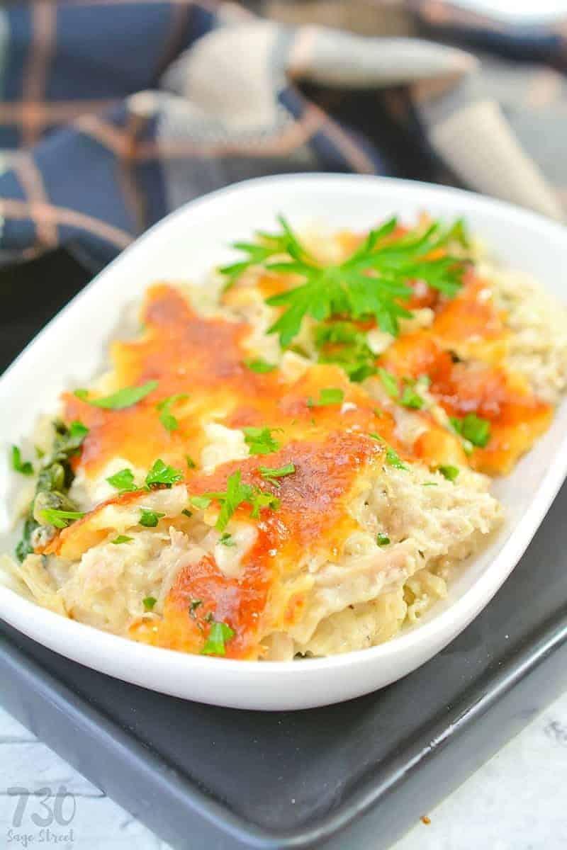 chicken and spinach casserole 6