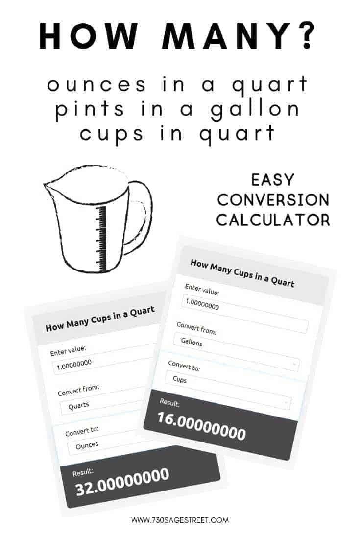 How Many Ounces in a Quart Free Online Conversion Calculator