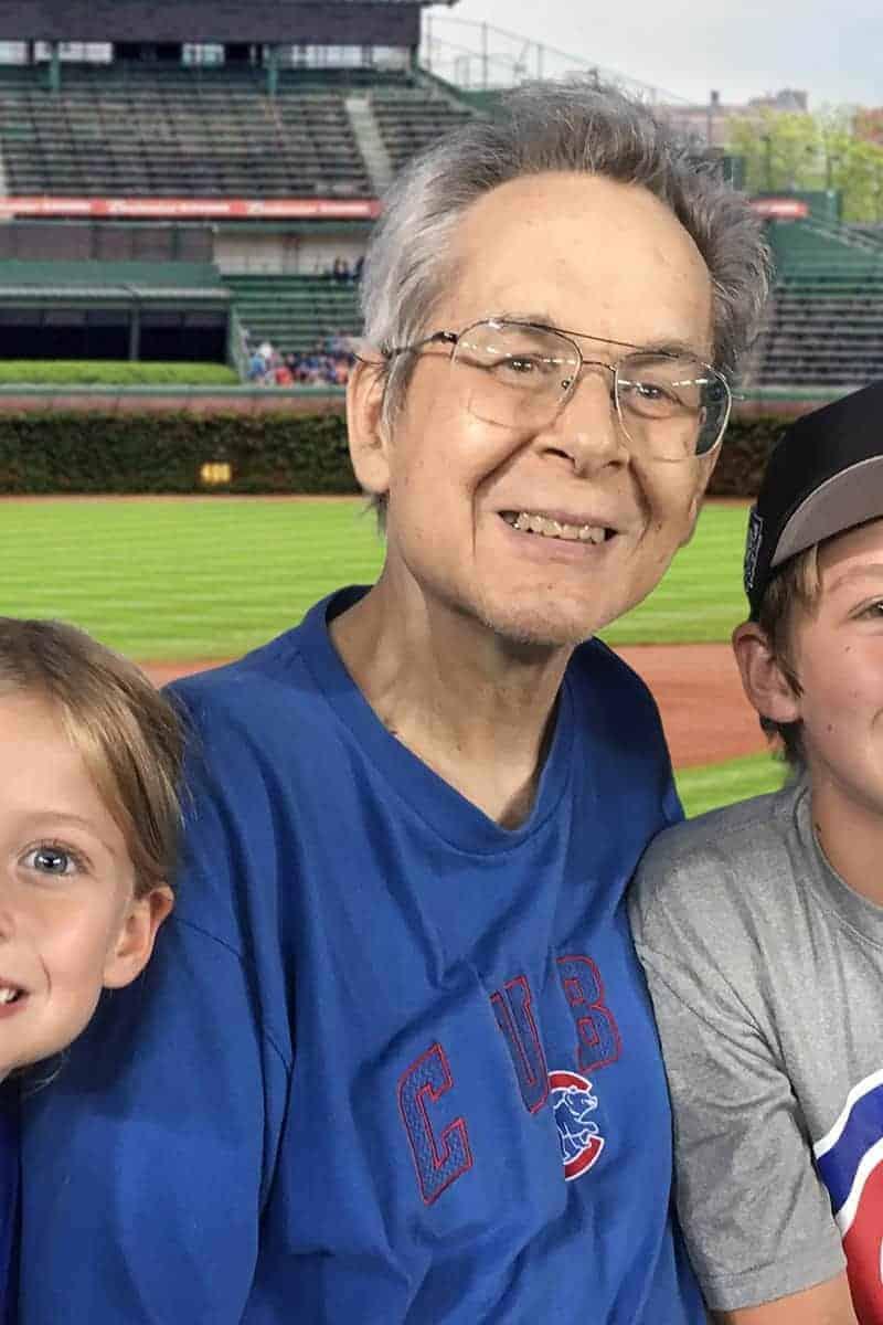 older man at a baseball game