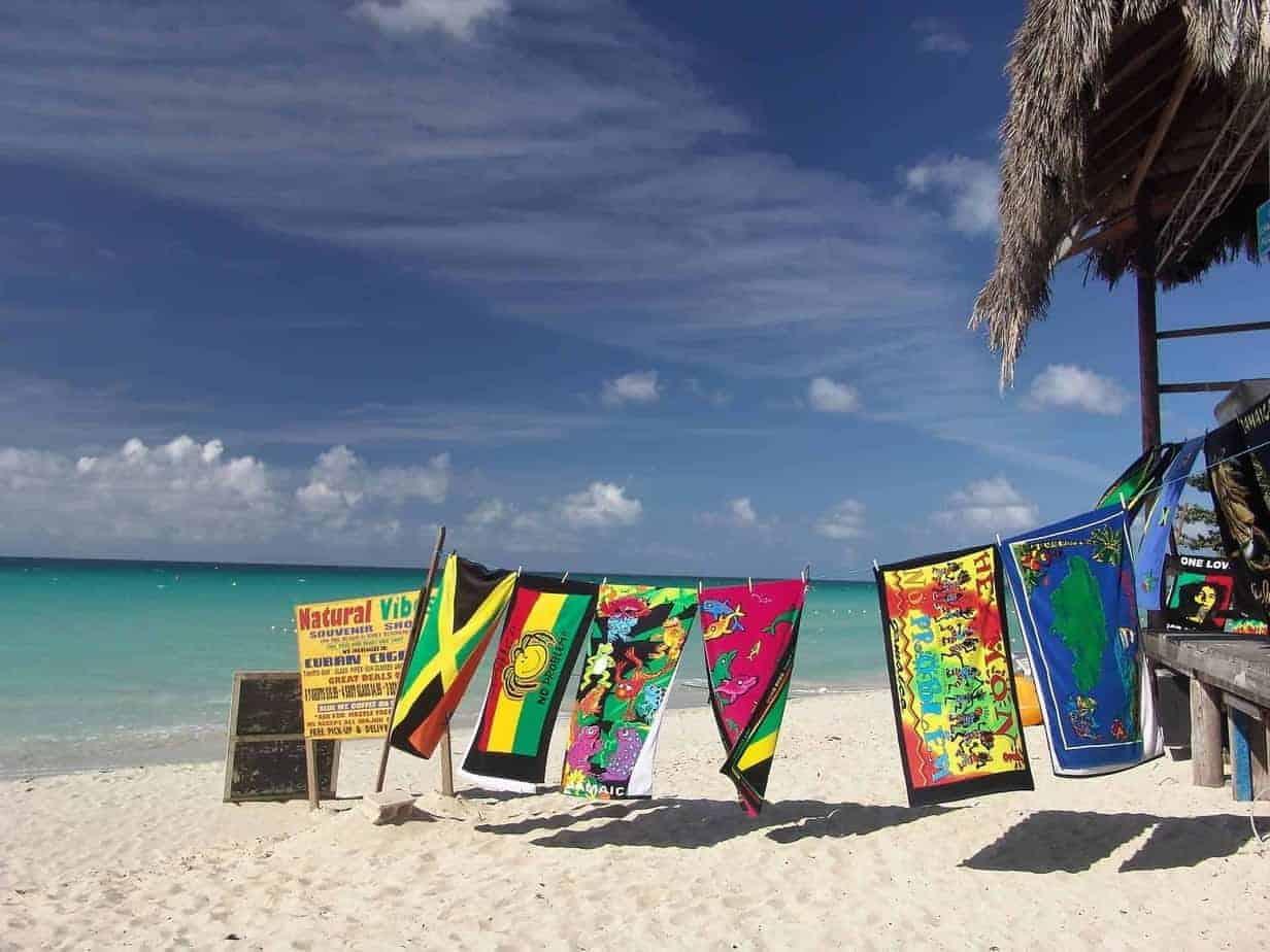 Jamaican beach scene