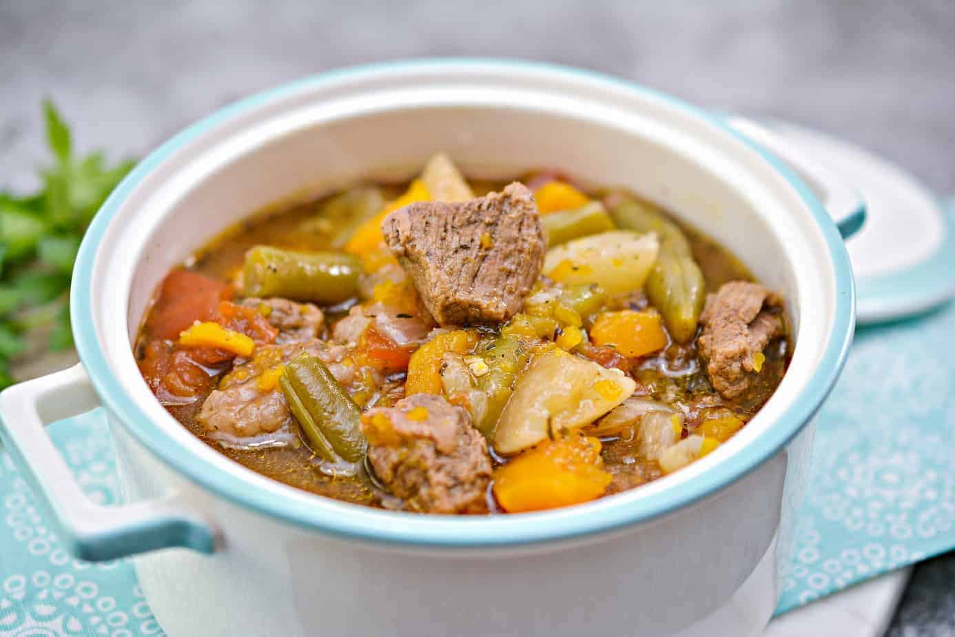 savory beef stew low carb
