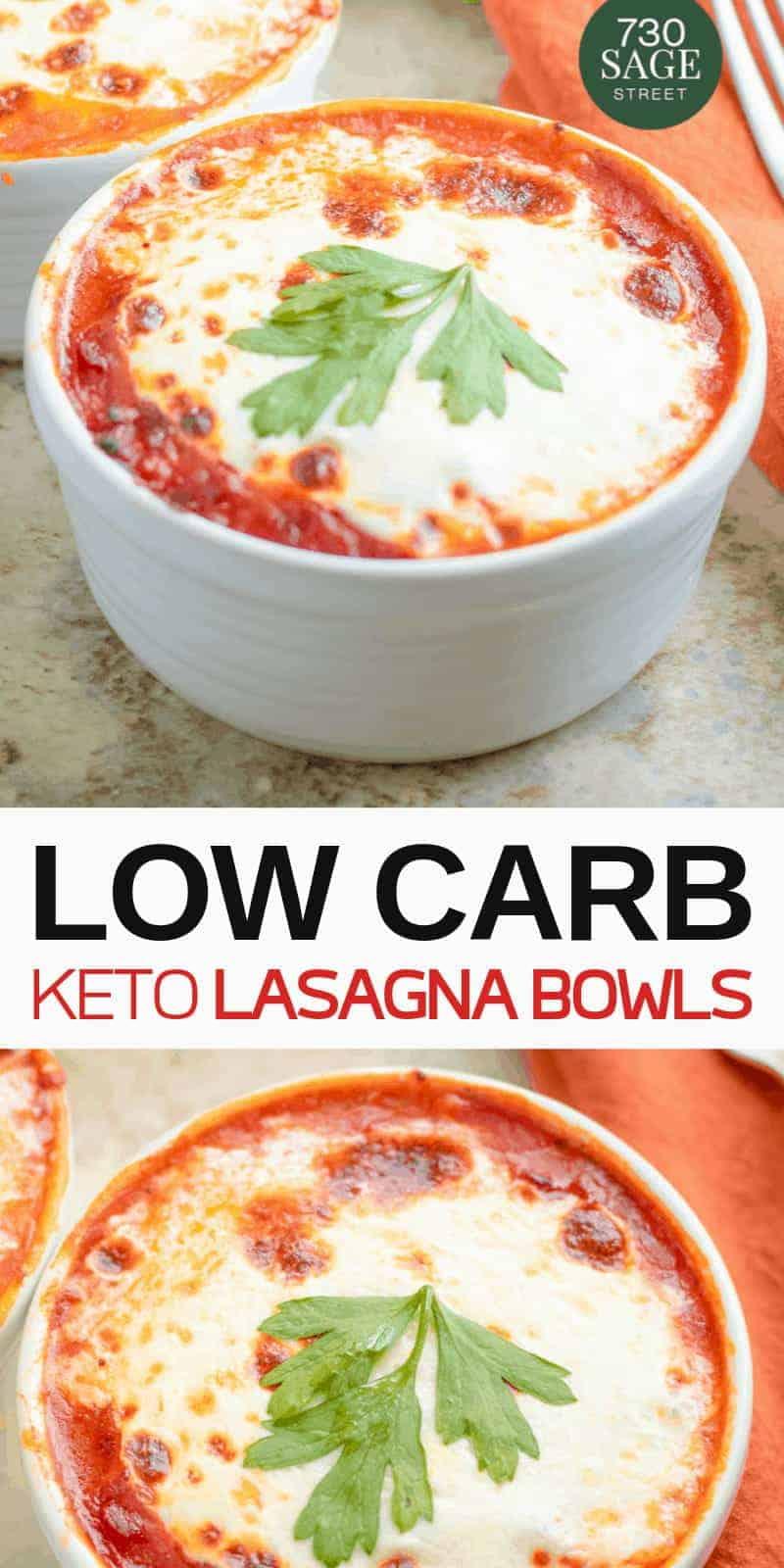 Low Carb Lasagna Bowls