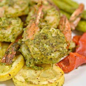 Pesto Keto Shrimp Sheet Pan 15