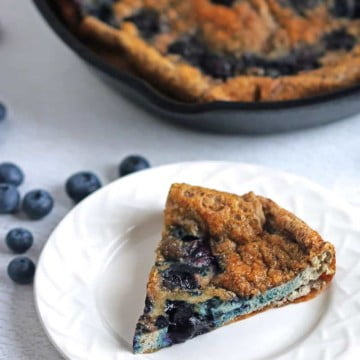 low carb blueberry egg bake