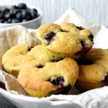 Keto Blueberry Muffins scaled