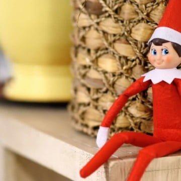 Santa's Elf sitting on a Shelf.